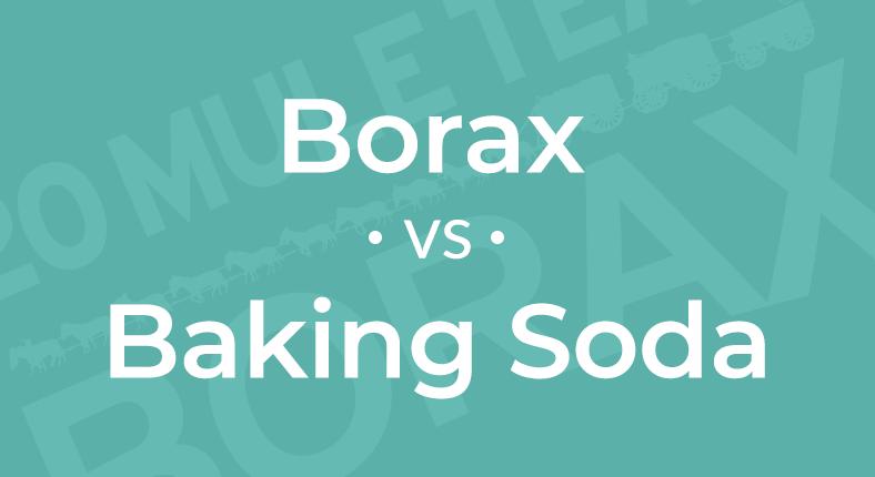 Borax Vs Baking Soda Twenty Mule Team Borax